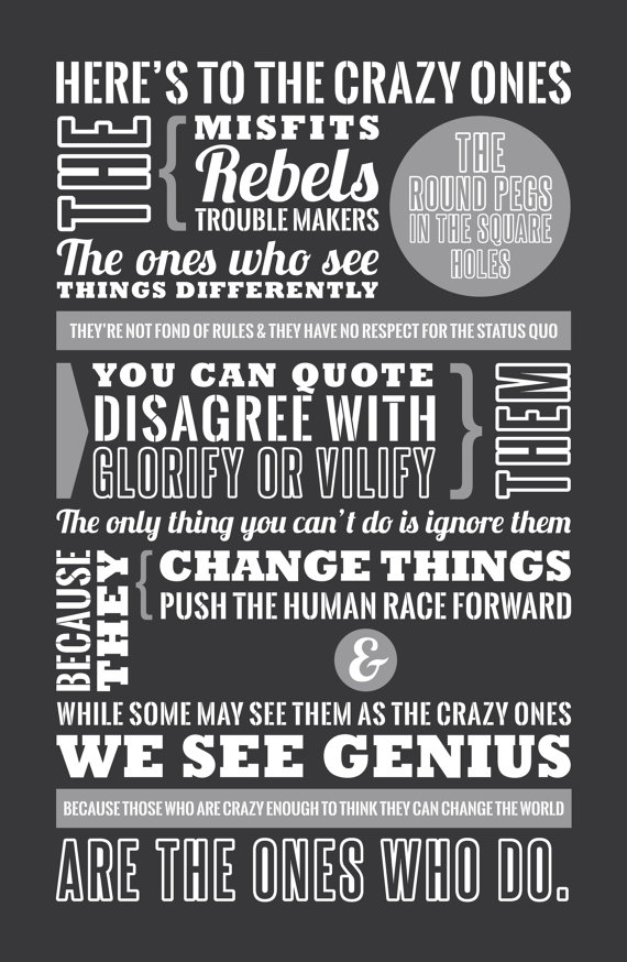 Here's to the Crazy Ones (How Creatives Overcome Their