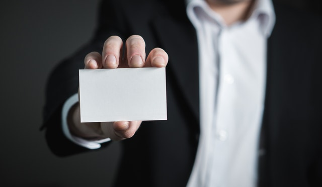 identity insecurity businessman blank business card who are you what do you do